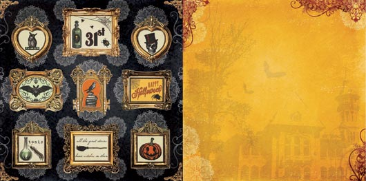 "1.5/"" Reminisce *SPOOKY NIGHT* Halloween  Chipboard Letter Die Cuts"