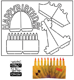 Pop Up Birthday Card Template Images Design Ideas