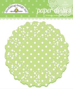 Limeade DOODLEBUG Mini Doilies 75 Pack