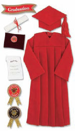 Red Graduation Gown – images free download