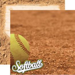 Baseball Scrapbook Papers Reminisce Baseball Icons 5 Sheets